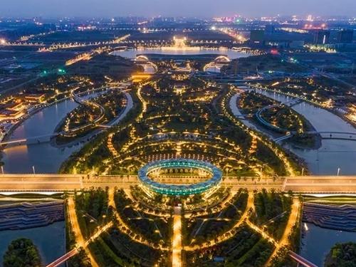郑州航空港区双鹤湖中央公园
