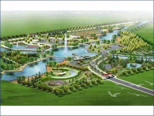 商丘市梁园高铁新城梁园湖公园景观水系工程